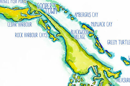 Map of Abaco Islands