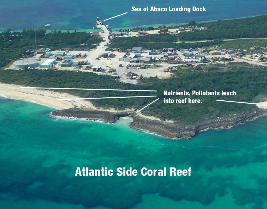 Bakers Bay Aerials show Reef Decline