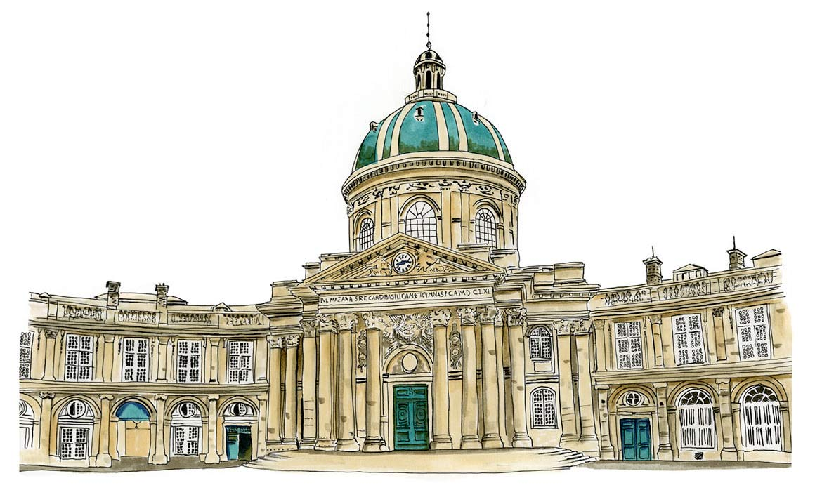Sketch of Institut de France