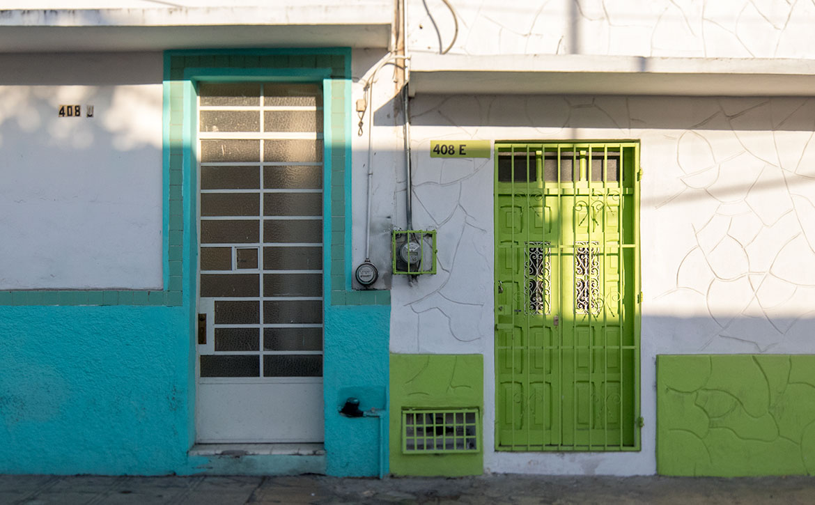 Doors in downtown Mérida, Mexico