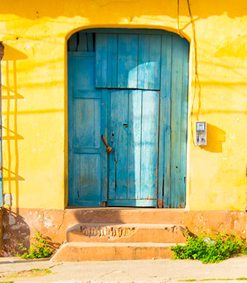 Blue Door in Trinidad