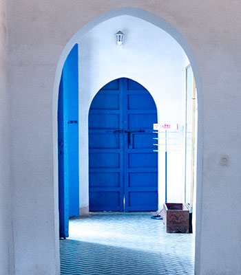 Blue Door in Marrakech