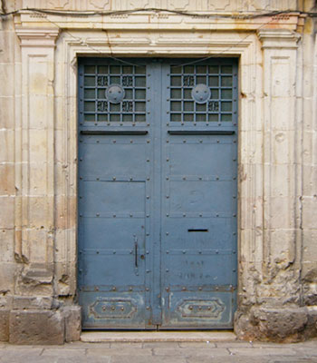 Blue Iron Door in Barcelona