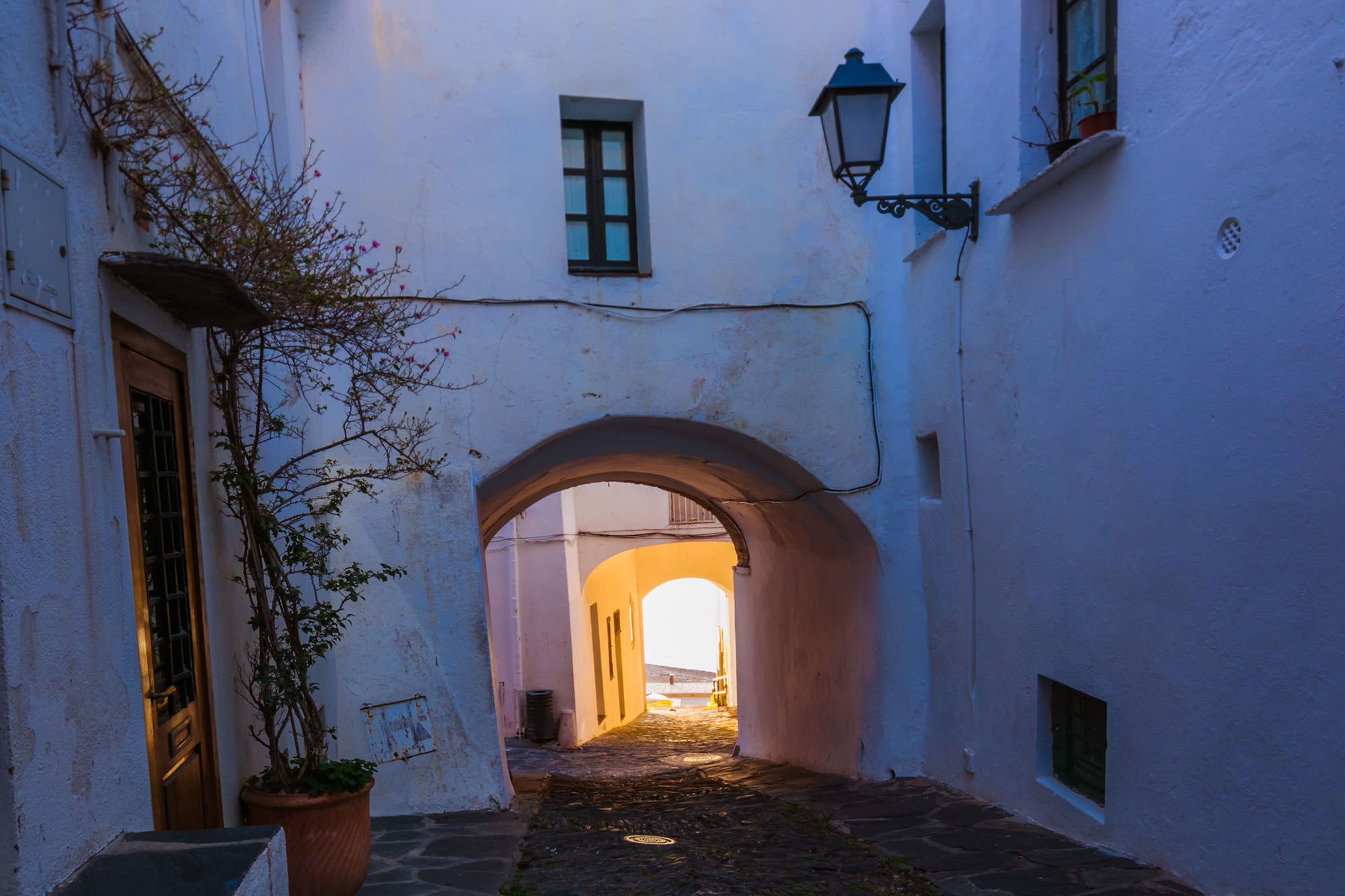 Arch in downtown Cadaques