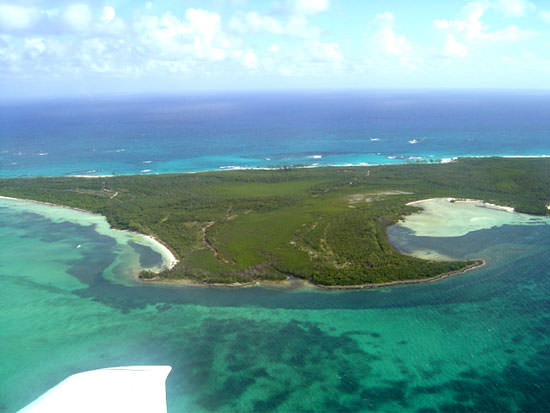 Angle of Joes Creek looking out from the Sea of Abaco to reefs and Atlantic beyond.