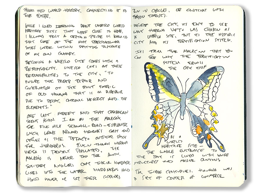 Cuba Sketch Journal | Drawings and Notes from Havana, Cuba