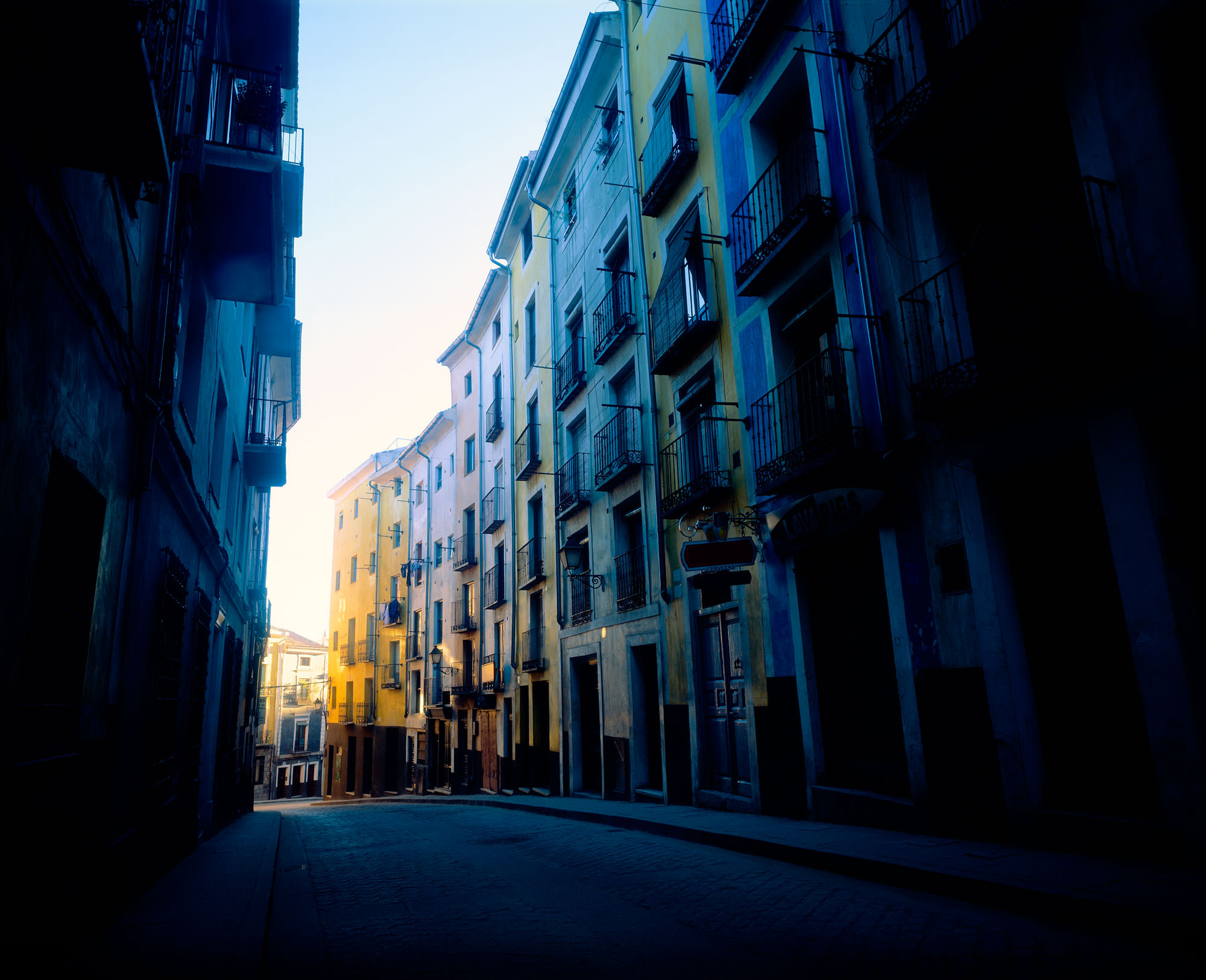 A photo of an alley in the beautiful city of Cuenca, Spain.