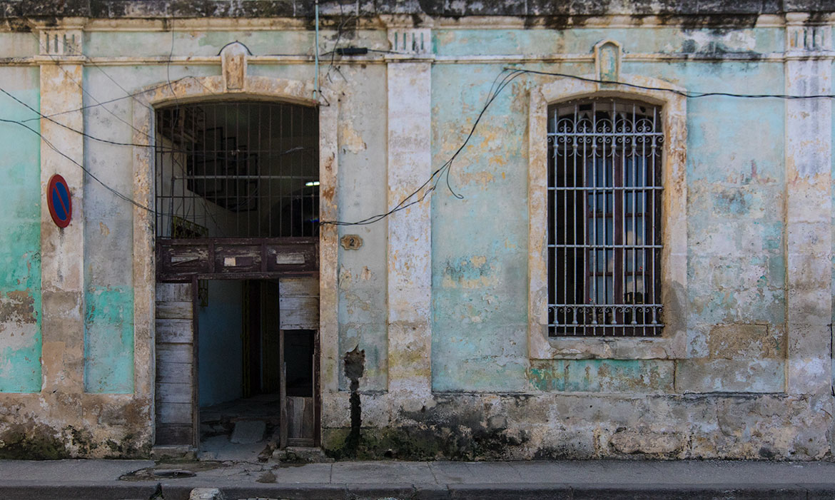 Decayed Door in Habana Vieja, Havana
