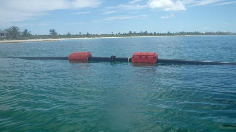 Guana Cay: dredging at Bakers Bay Club