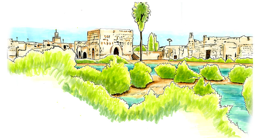 Sketch of the El Badi Palace