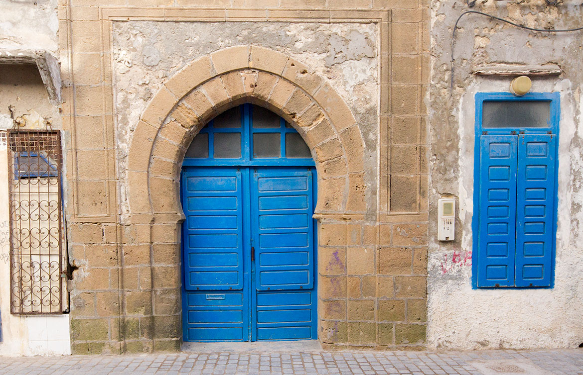 Blue Door in Essaouira, Morroco