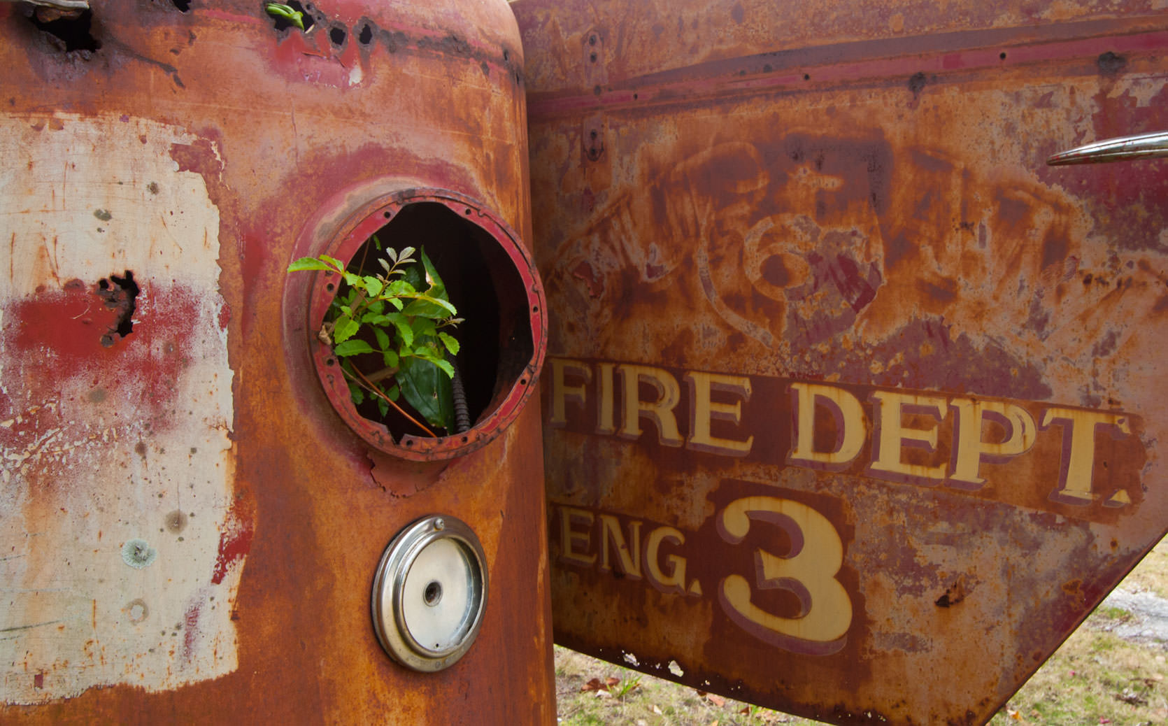 Rusted Fire Truck, Marsh Harbour, Abaco Islands