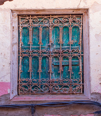 Gated Window in Marrakech