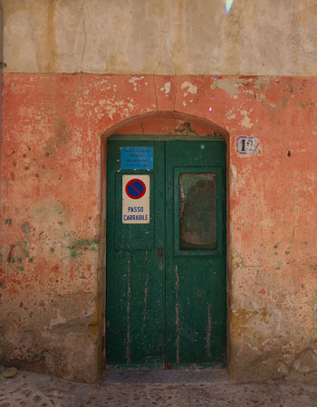 Cuban Door with Flag