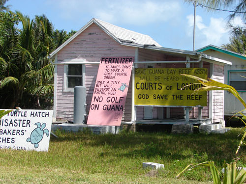 Guana Protest Signs