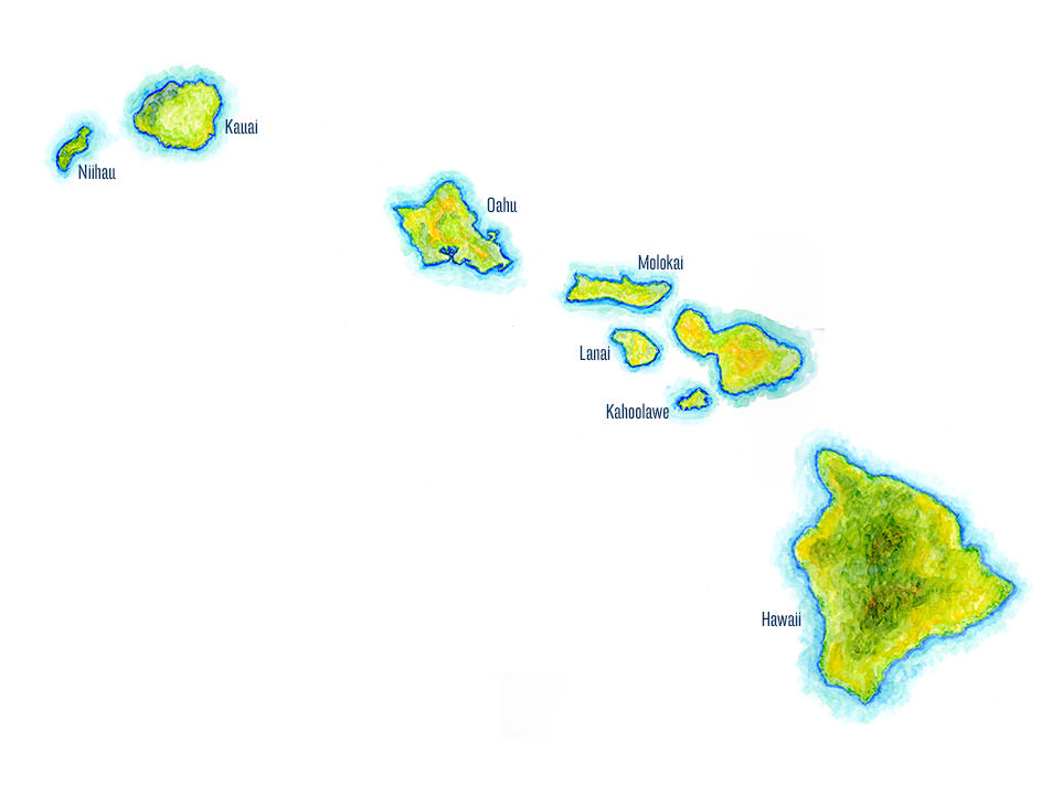 Pics Photos  Hawaiian Islands Map
