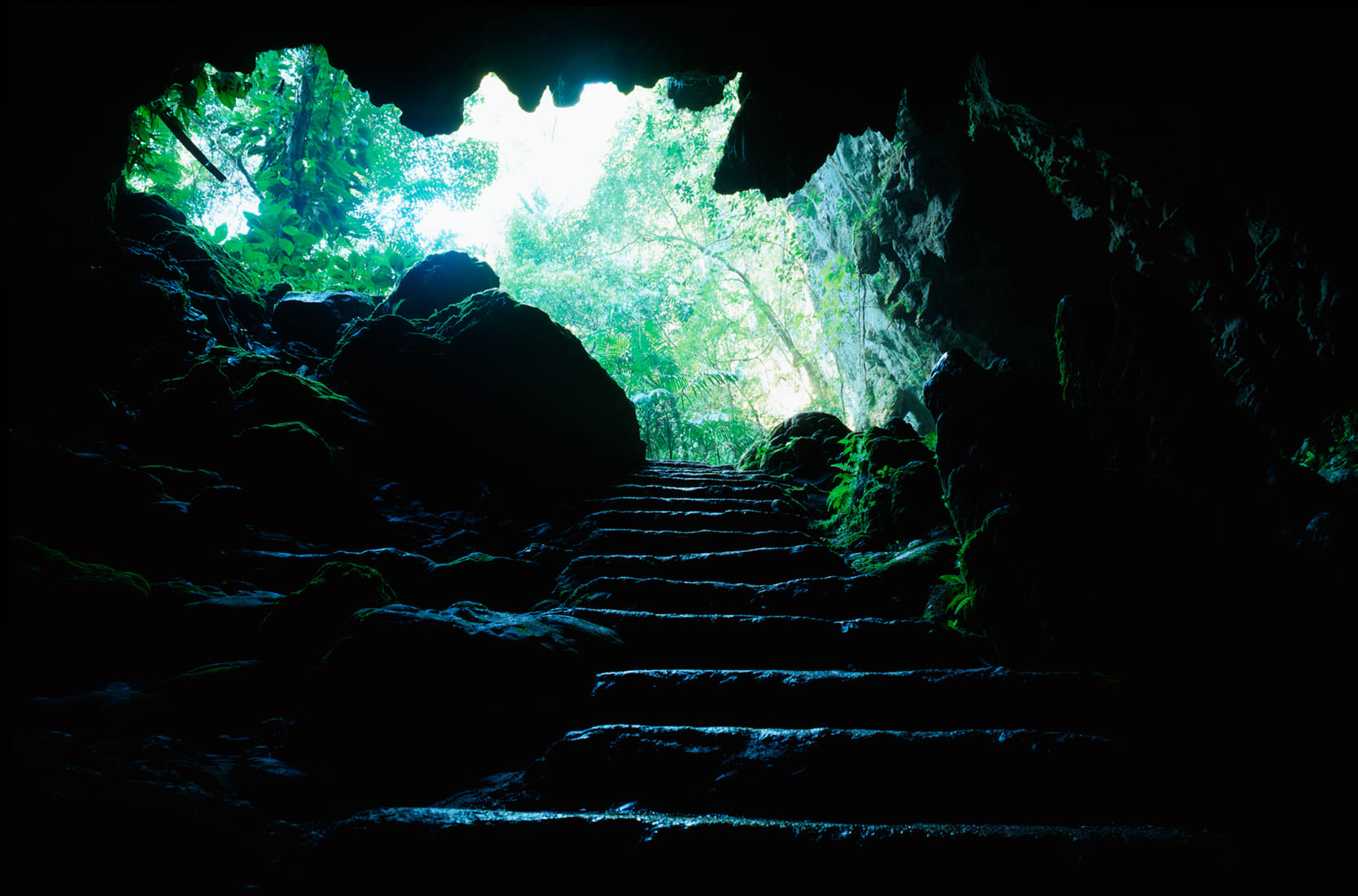 The Herman's Cave entrance in Southern Belize, a part of the Blue Hole National Park.