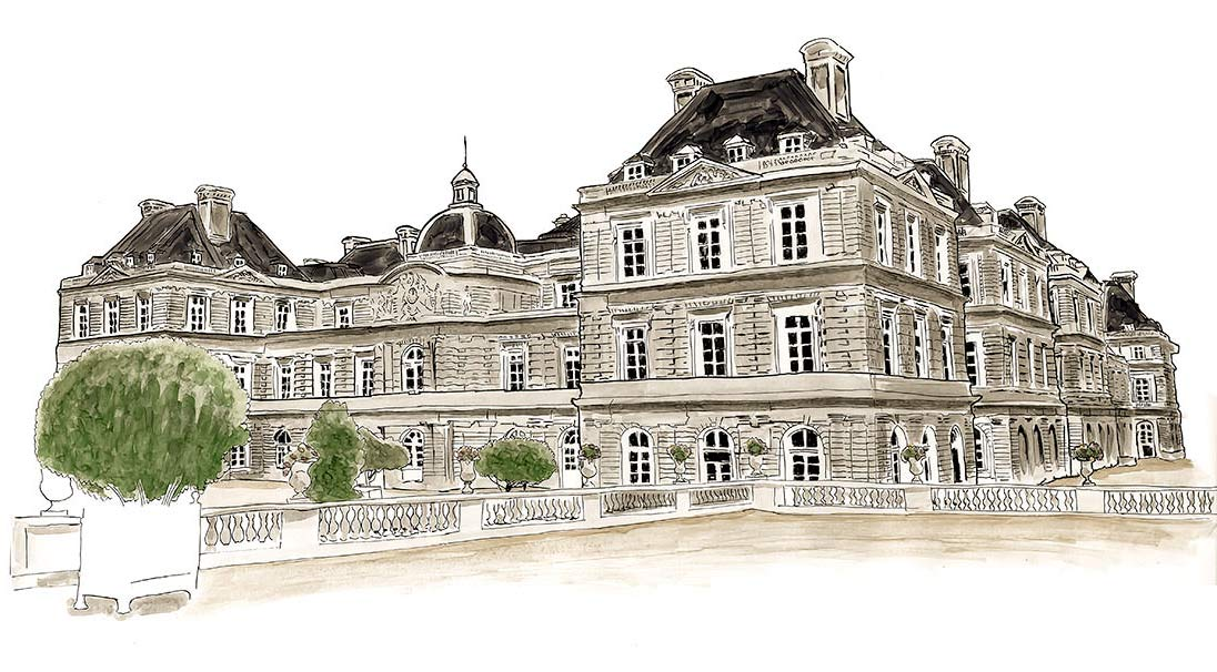 Luxembourg Palace Sketch