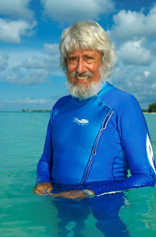 Jean-Michel Cousteau offers his support to the plight of Great Guana Cay locals