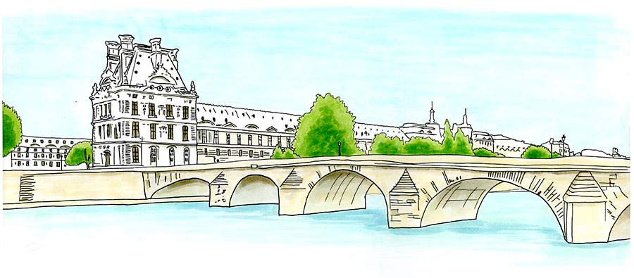 Louvre Palace and Royal Bridge