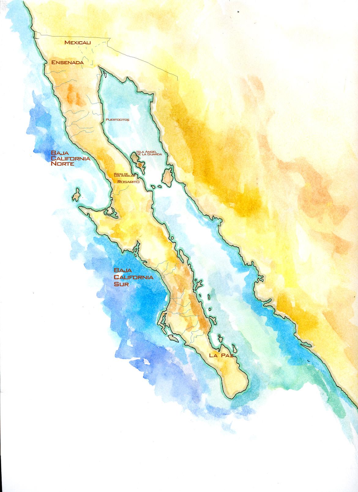 Map Of The Baja Peninsula