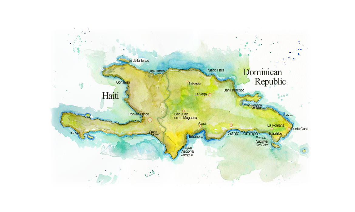 Map of hispaniola map of haiti and dominican republic haiti and the dominican republic map of hispaniola gumiabroncs Choice Image