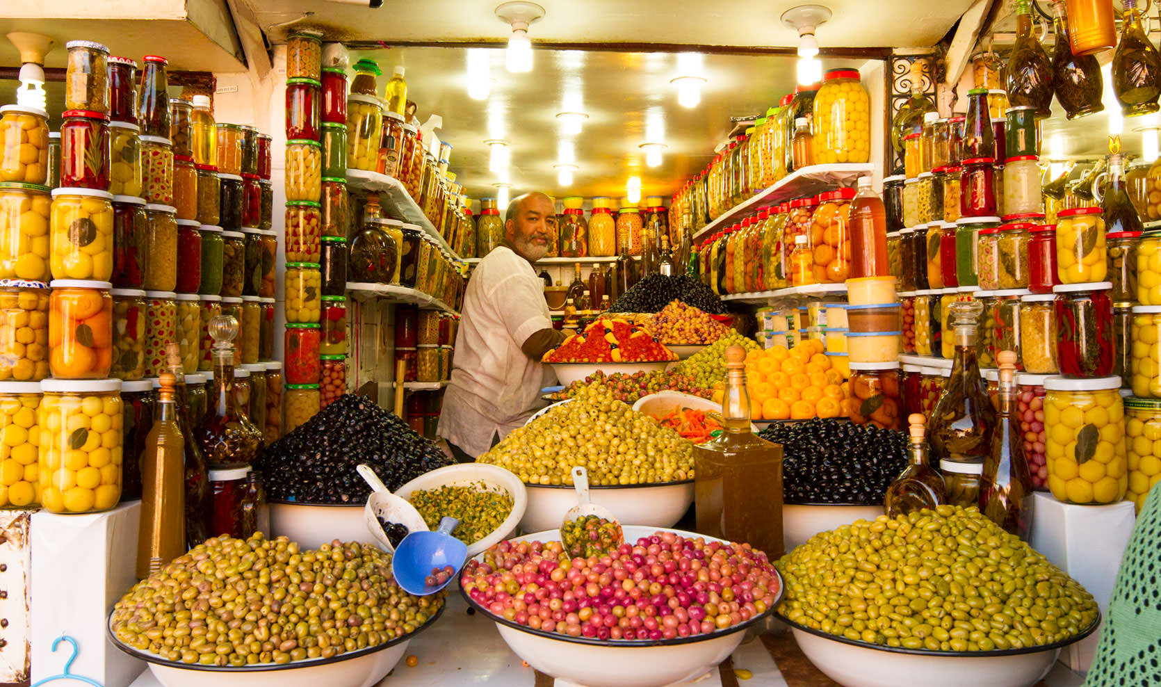 Olive Vendor in Marrakech