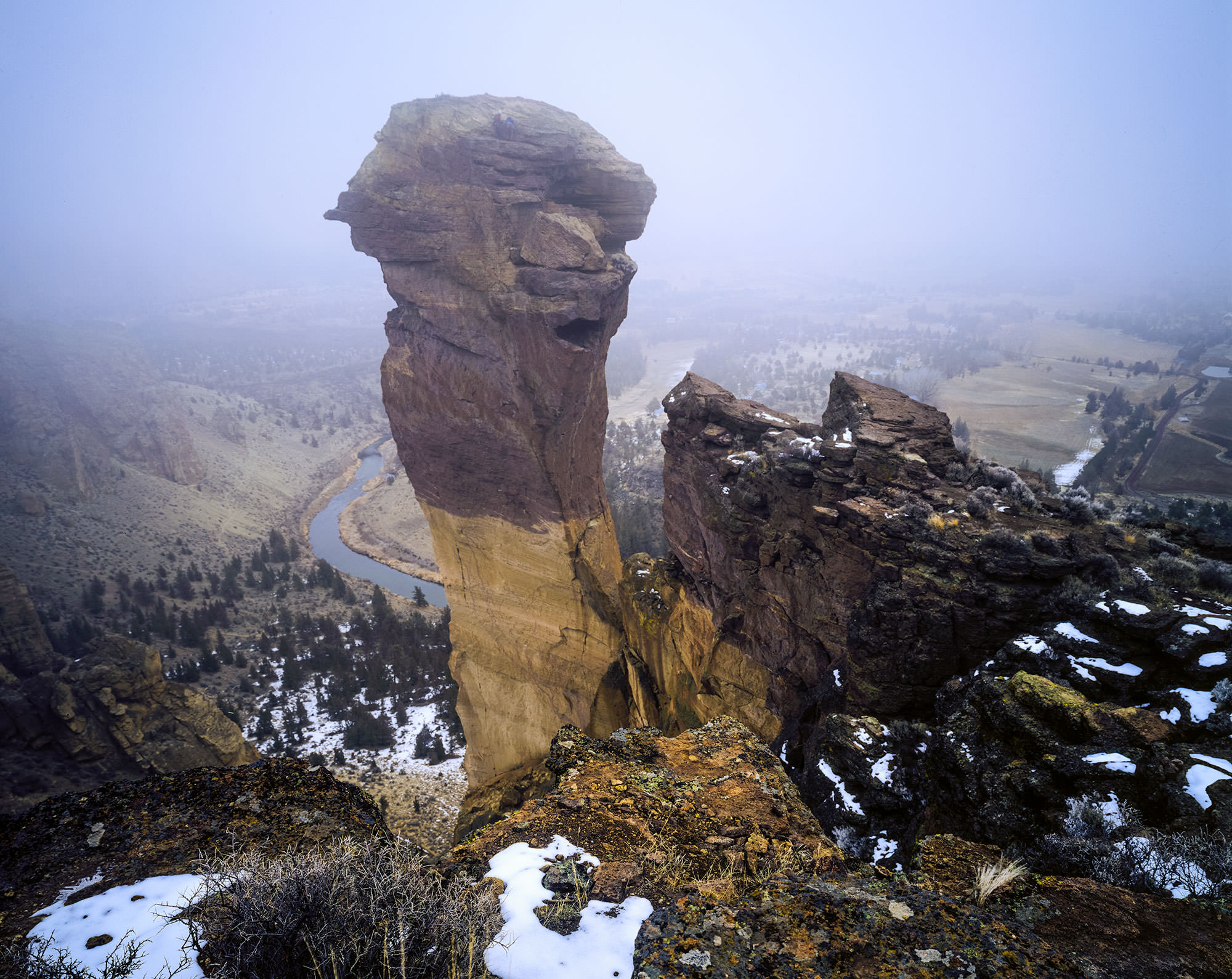 Granite monolith of Smith Rock.