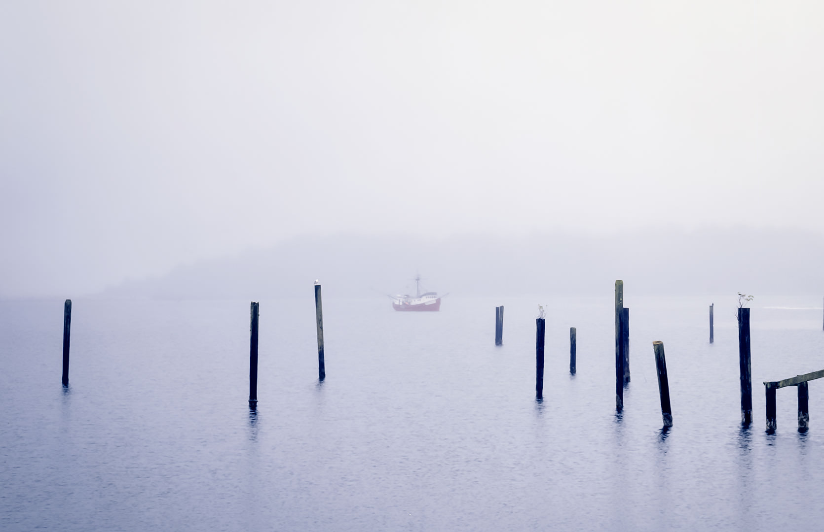 Neah Bay Harbor in fog