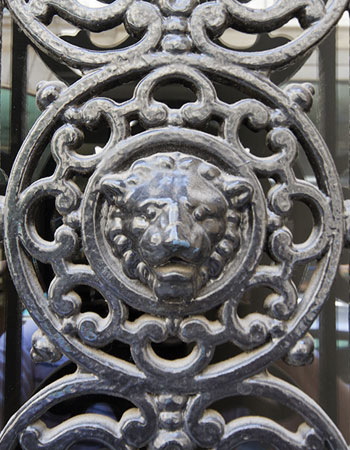 Ornamental Wrought Iron Detail in Paris