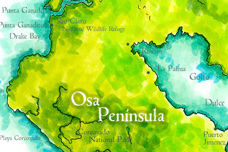 Osa Peninsula Map