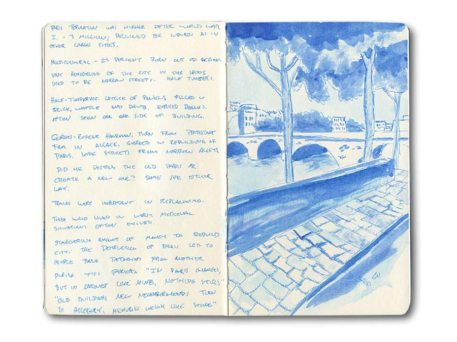 Paris Moleskine Sketch Journal