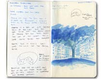 Paris Moleskine Sketches