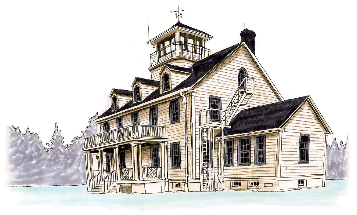 Sketch of the Point Adams Research Station