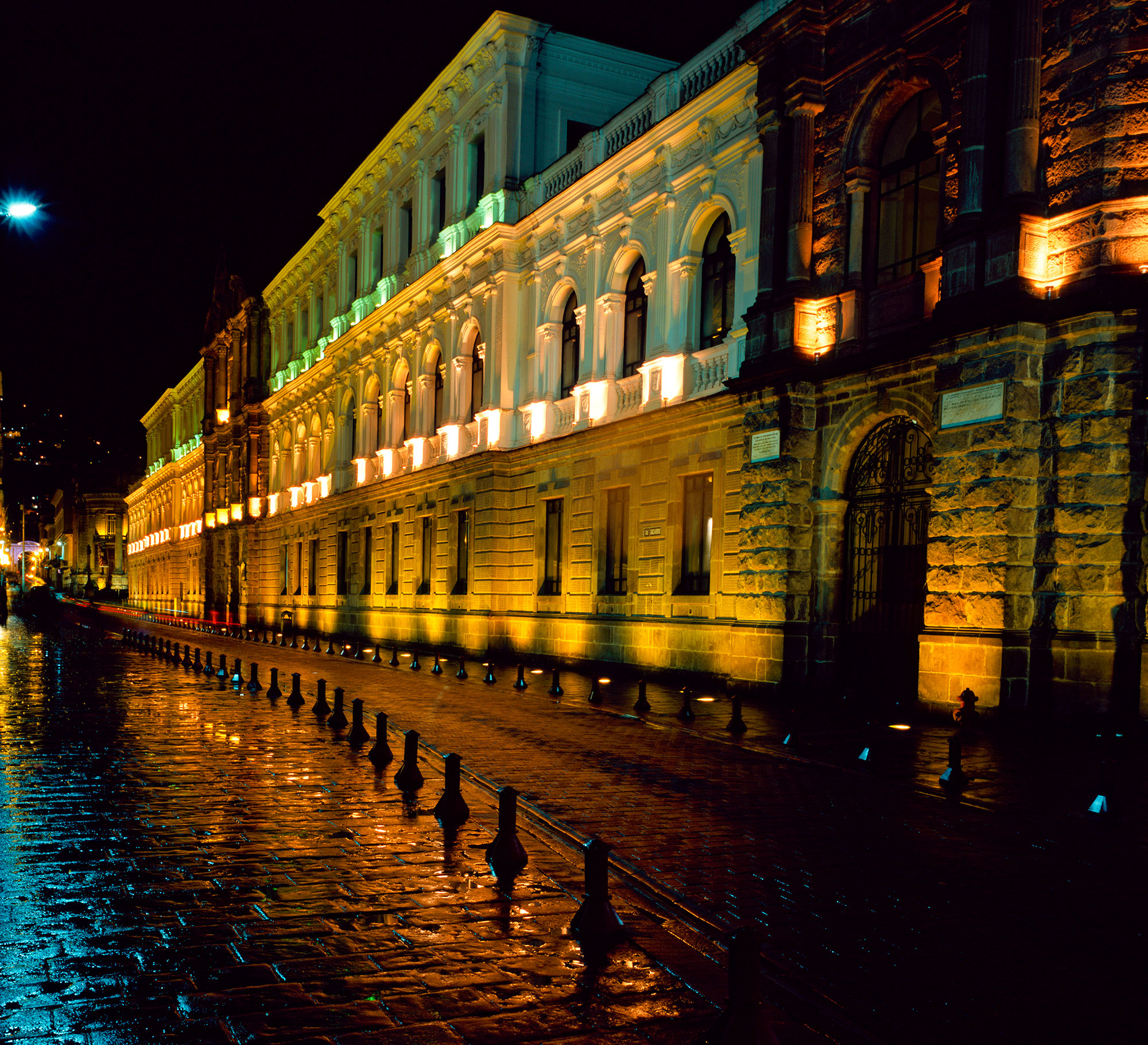 Quito Buildings at Night