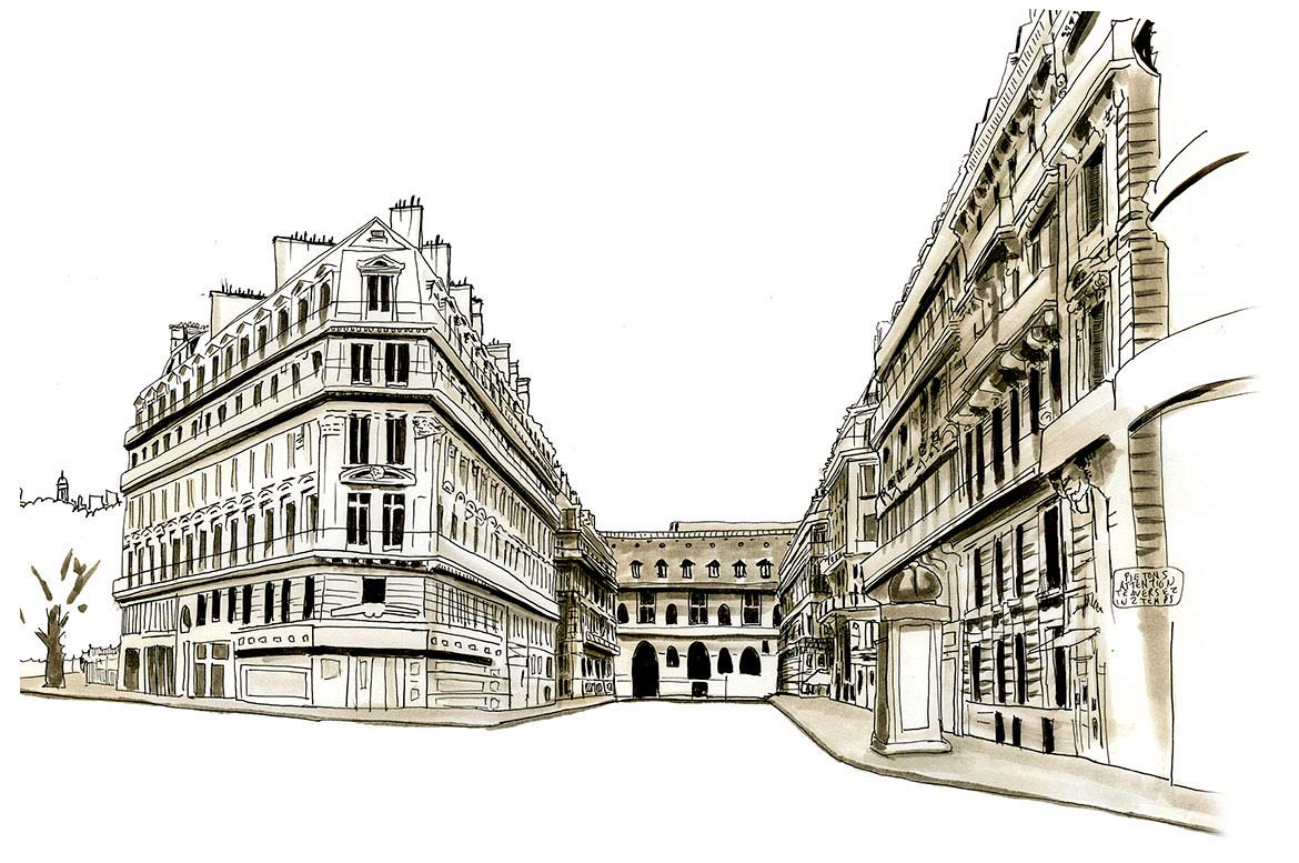 Rue de Richelieu Paris Sketches