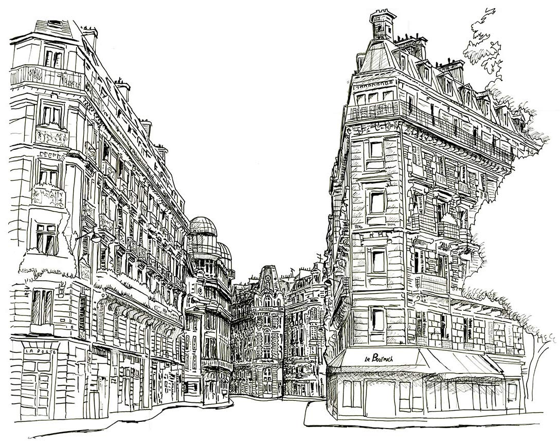 Boulevard Saint Germain Sketch