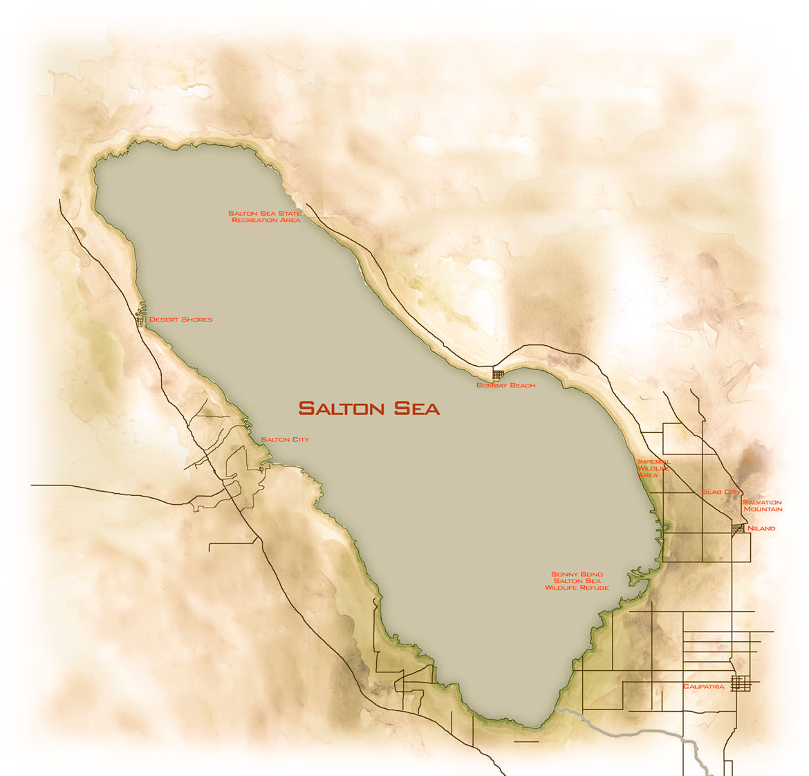 Salton Sea Map Notes from the Road