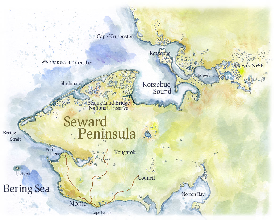 Seward Peninsula Map