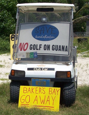 Go Away Bakers Bay Signs