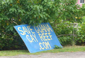 Sign for Save Guana Cay