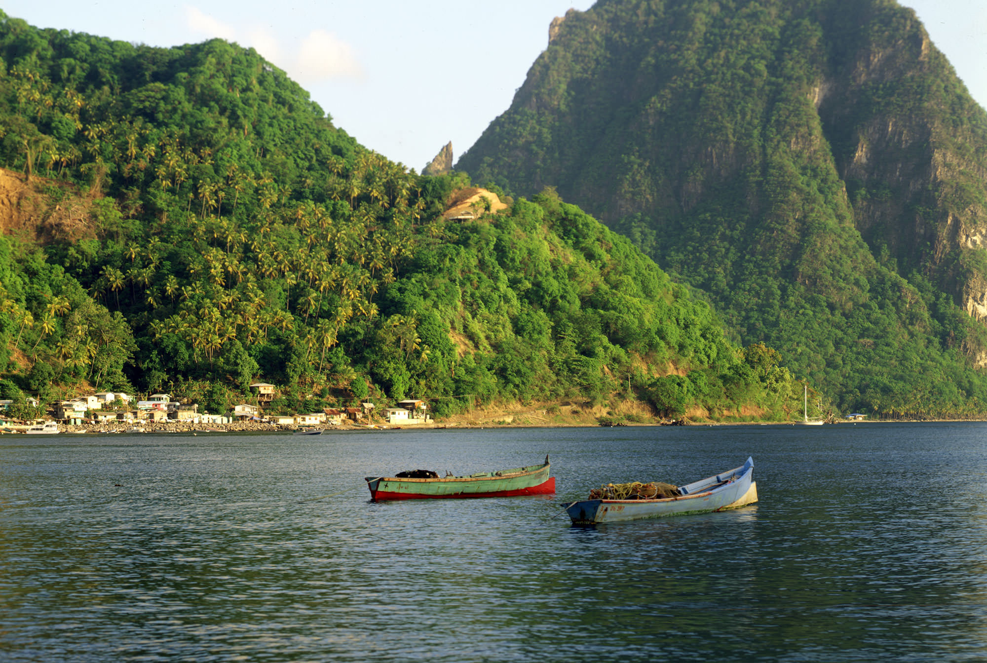 Fishing boats in Soufriere, St. Lucia