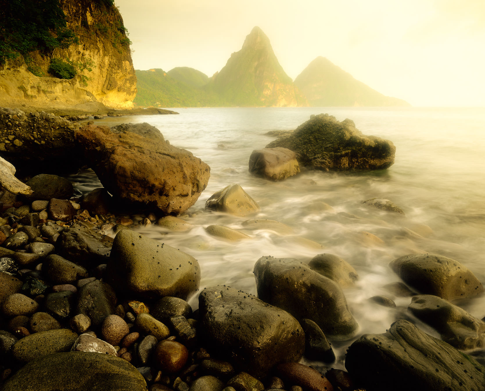 St. Lucia Pitons, near Anse Chastenet