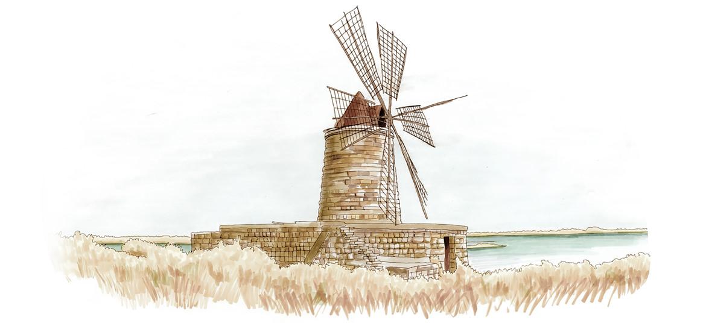 Trapani Windmill
