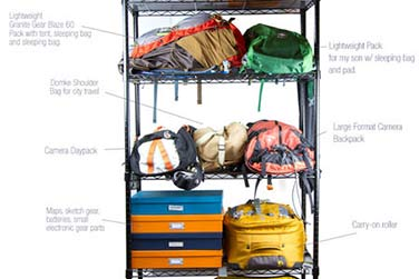 Travel Gear Shelf