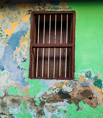 Window and Green Paint, Mérida, Mexico
