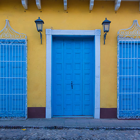 Turquoise Door in Trinidad Cuba & Photos of Doors and Windows from Around the World