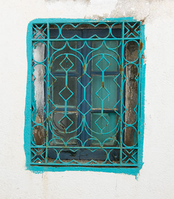 Turquoise Window in Barcelona