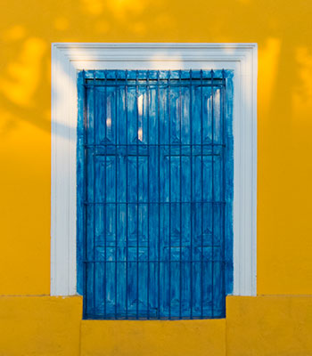 Window in Celestun, Mexico