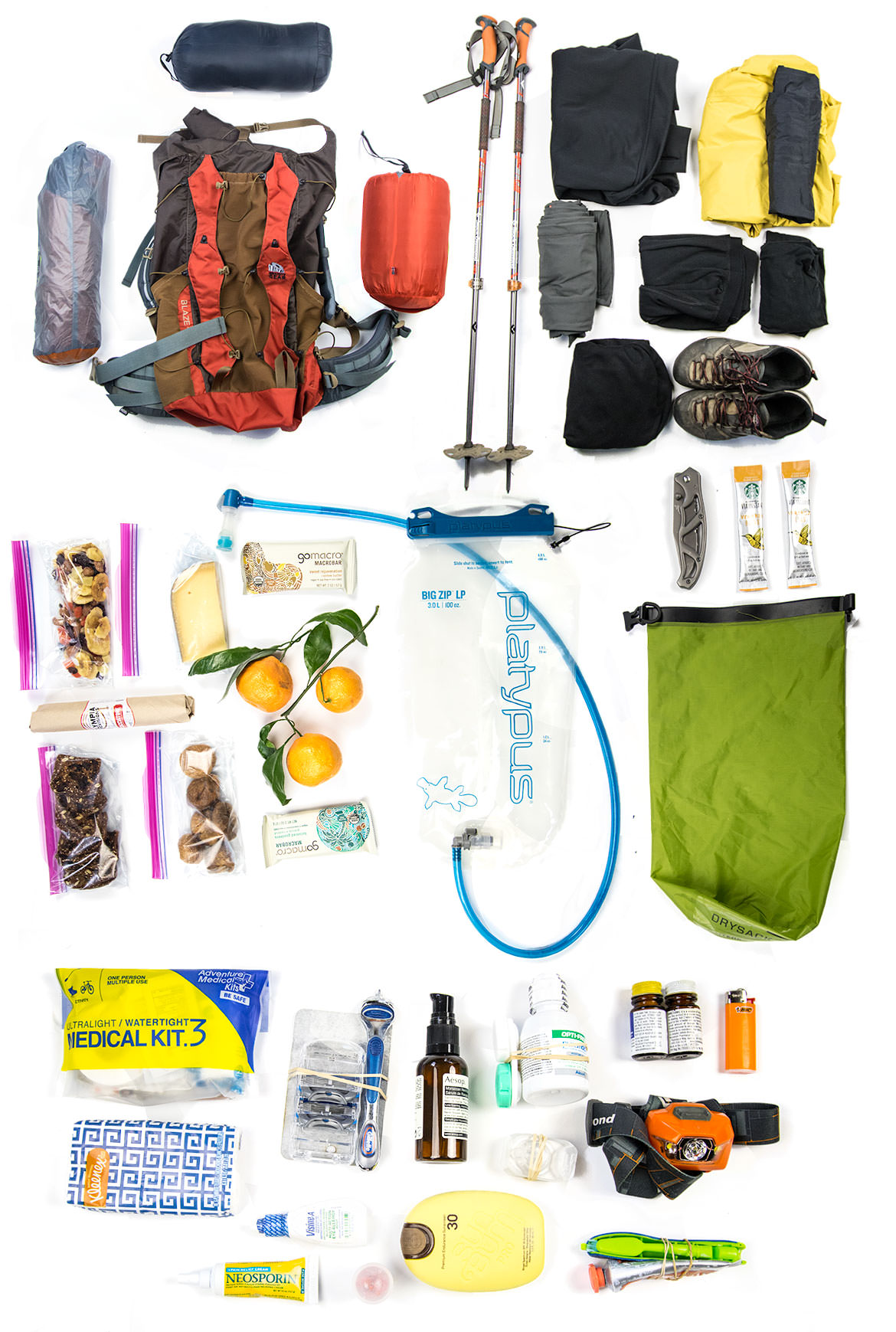 Ultralight Backpacking List for One Night